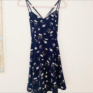 GARAGE blue floral dress